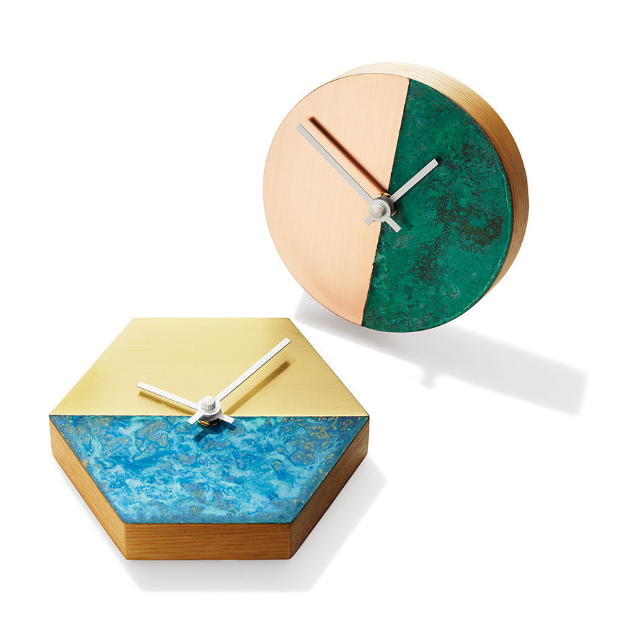 Cofield Patina Clocks Hexagon from Cofield