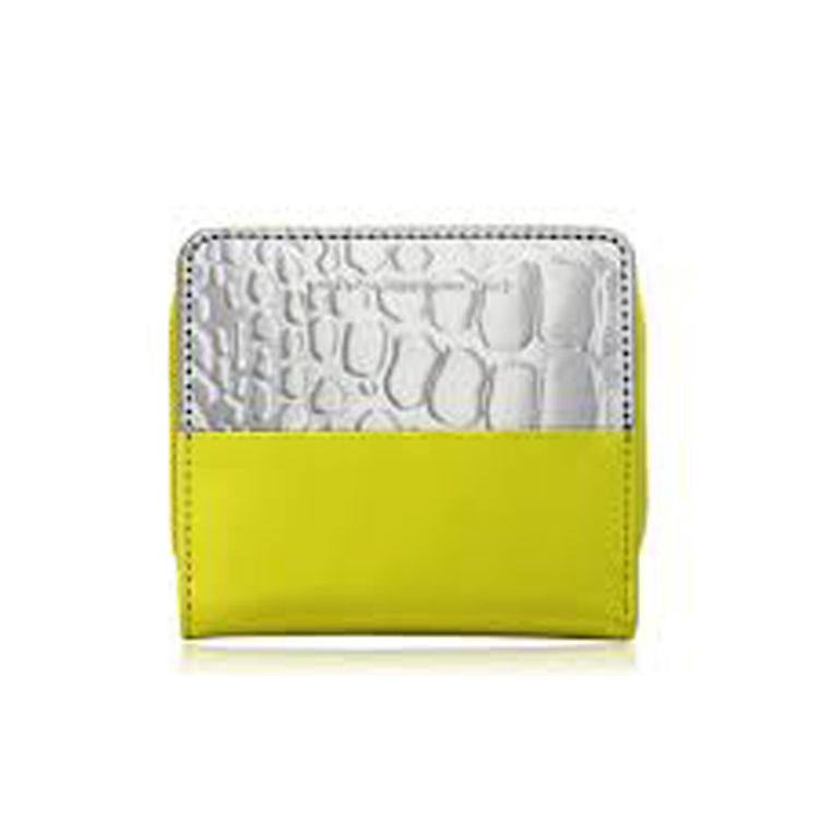 Alligator Textured Stainless Steel Chroma French Purse