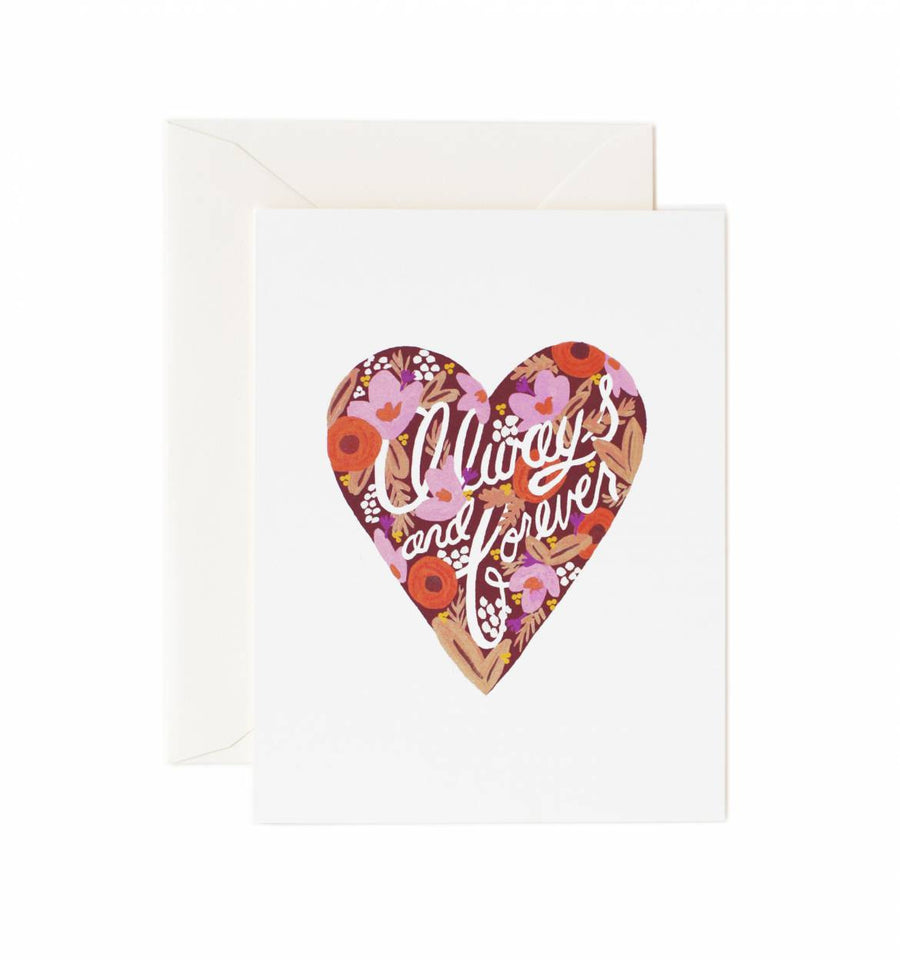 Always and Forever Valentine's Day Card  from Rifle Paper Co.