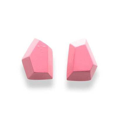 Single Color Faceted Diamond Stud Earrings