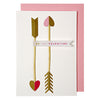 Cupid's Arrows Card  from Meri Meri