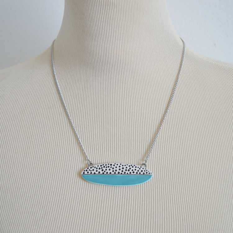 Elliptical Blue Dot Necklace by Isla Clay