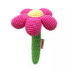 Crocheted Magenta Flower Rattle