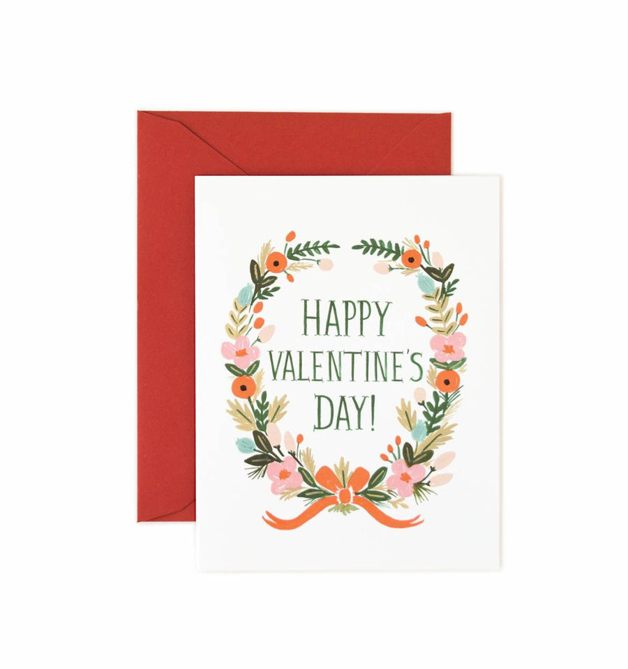 Garland Valentine's Day Card  from Rifle Paper Co.