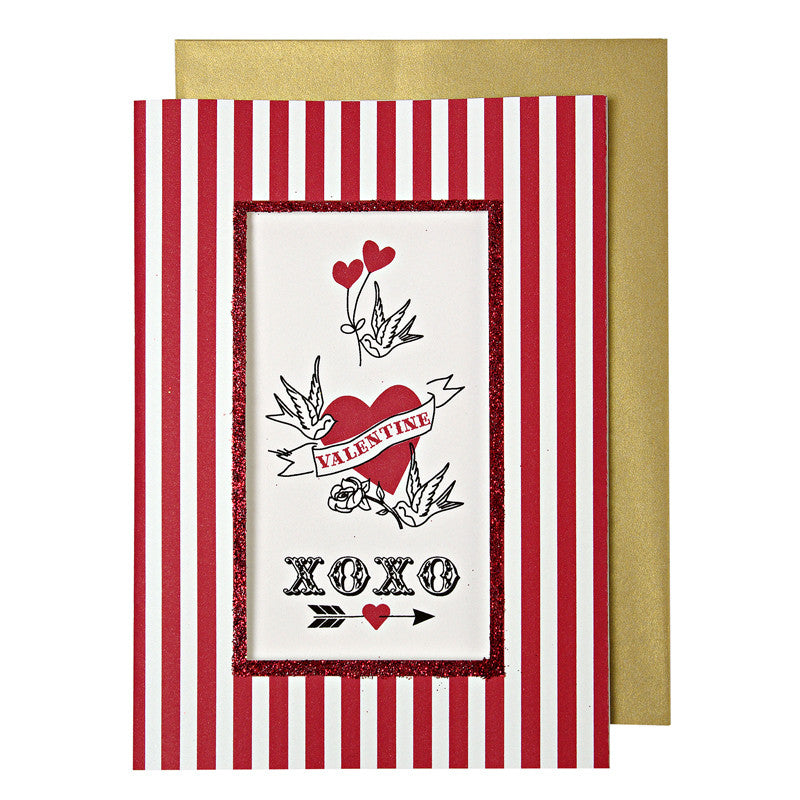 Valentine Tattoos Card  from Meri Meri