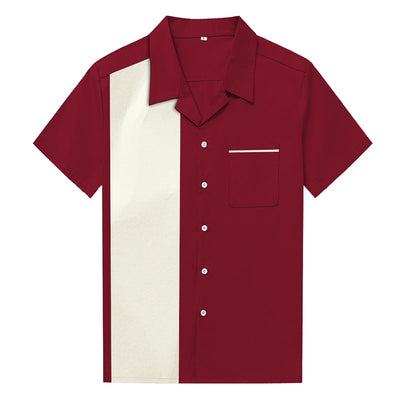 Chemise Rock and Roll Rouge pour Homme