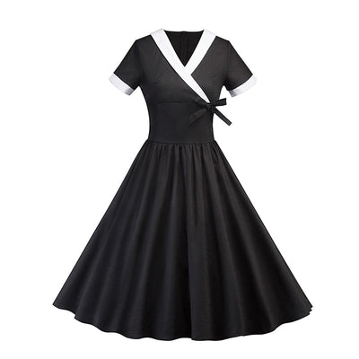 Robe Vintage Noire et Blanche Style Pin Up