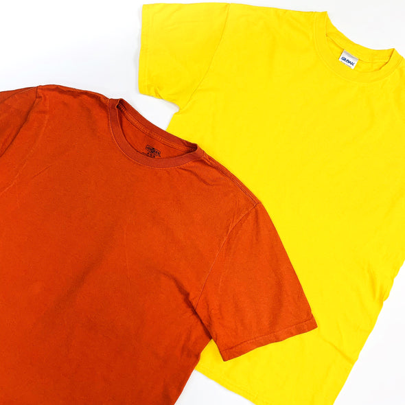 25kg Block Colour 90s Plain Tees - SEALED SACKS