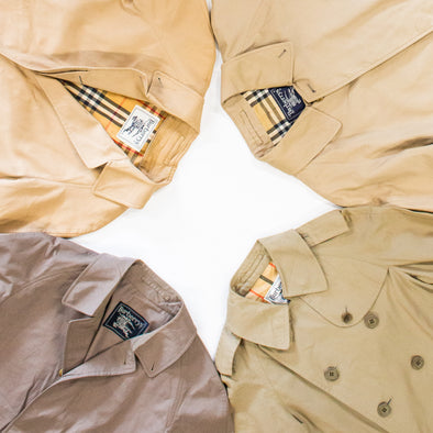 vintage burberry mac jackets