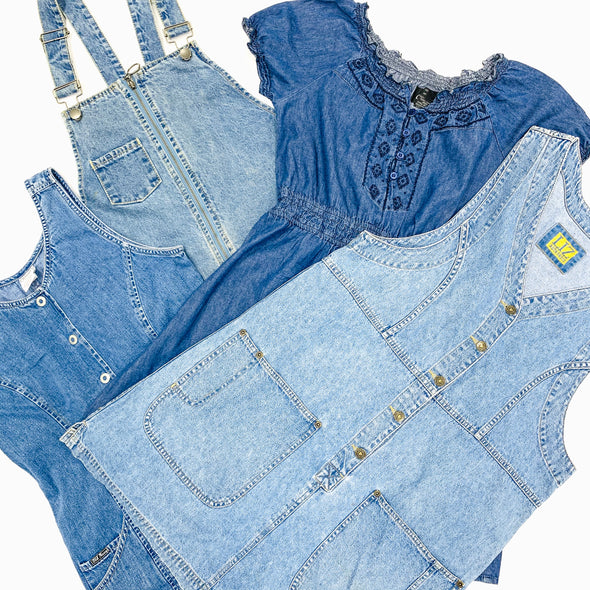vintage ladies denim dresses