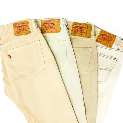 25 x Levi's 501 Mix in Beige - SEALED SACKS