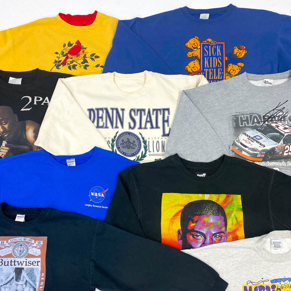 45kg Assorted Graphic Sweaters - BALE
