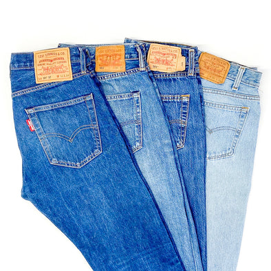 25 x Levi's 501 Mix in Blue - SEALED SACKS
