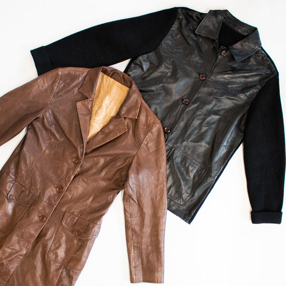 25kg Mens Long & Mid Length Leather Jacket Mix - SEALED SACKS