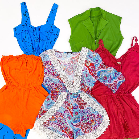 45kg Ladies Vintage Playsuits & Jumpsuits Mix - BALE