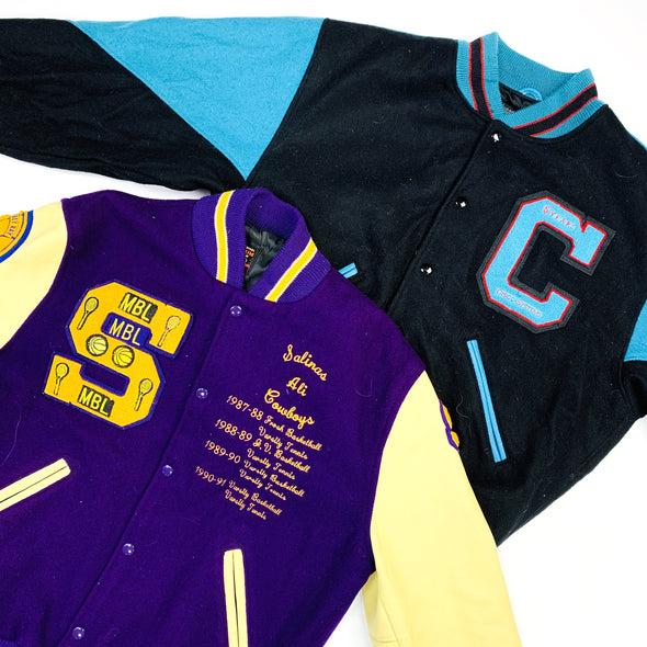 250 x Wool/Leather Varsity Jackets - Grade A
