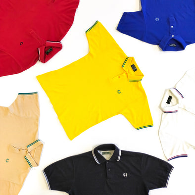 30 x Fred Perry Polo Tees - Plain & Patterned - Grade A