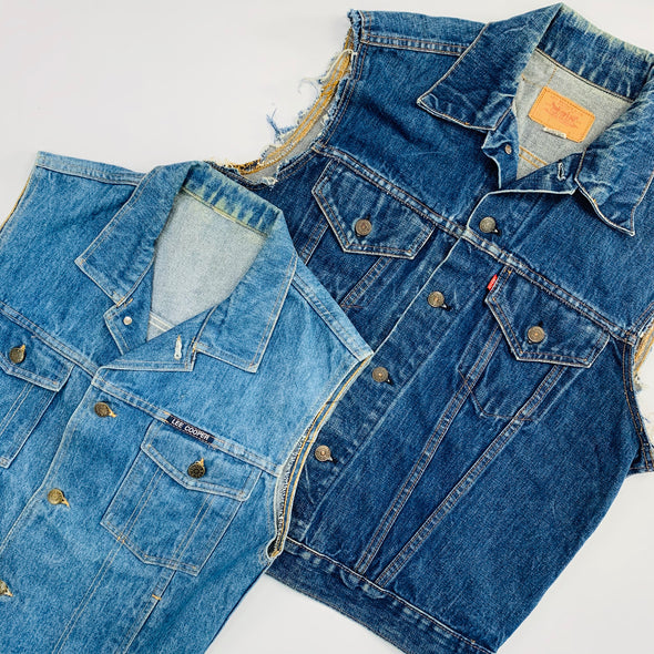 30 x Branded and Unbranded Denim Waistcoats - Grade A