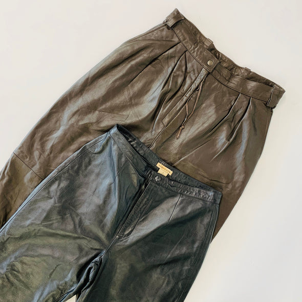 30 x Ladies Leather Trousers - Grade A