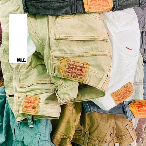45kg Coloured Mixed Code Levi's - BALE