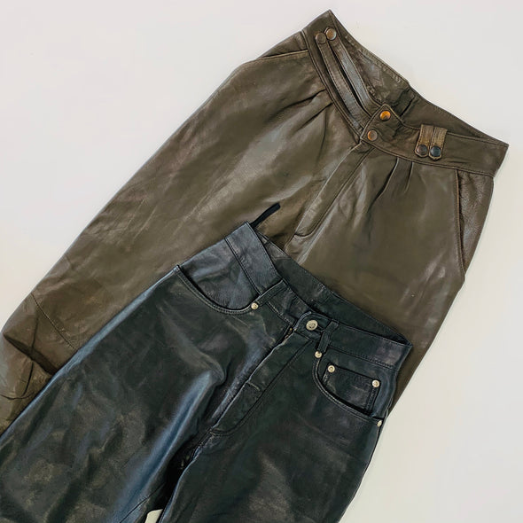 45kg Ladies Leather Trousers - BALE