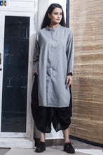 Over-sized Deluxe Tunic - Grey - satyaselection.com