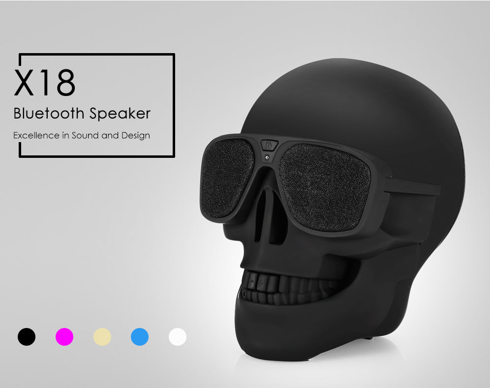 Skull Shaped Bluetooth Speaker