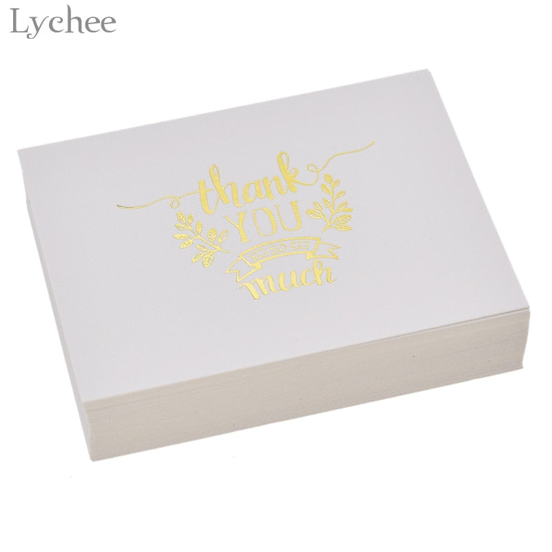Thank You Cards, Gold Embossed, 48 cards per pack
