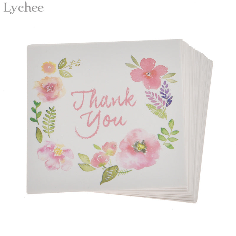 THANK YOU Cards Floral Pattern 50 per pack
