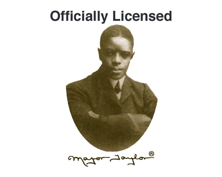 Look for the Major Taylor insignia on all officially licensed wear