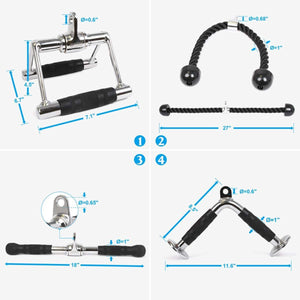 V Handle, Tricep Rope, Rotating Bar, V-Shaped Bar | Tricep Press Down Weight Machine Accessories - POWER GUIDANCE FITNESS