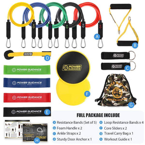18 PCS Resistance Bands Pull Up Workout Set