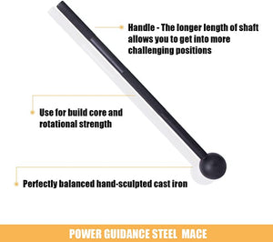 Steel Power Mace Cast Iron
