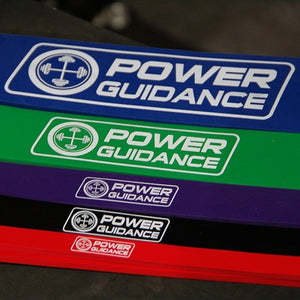 5PC Set Stretch Resistance Bands | Assist Mobility Band for Bodybuilding - POWER GUIDANCE FITNESS