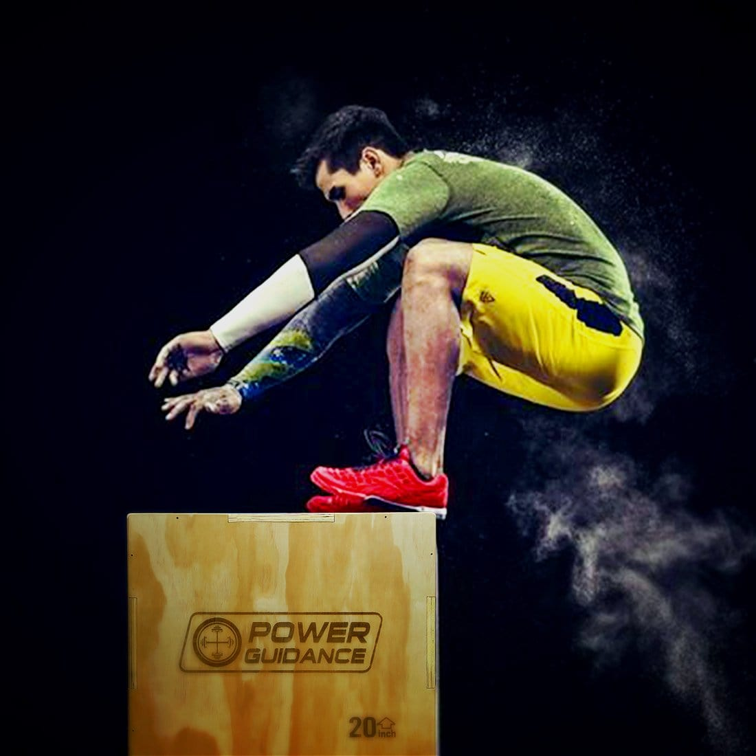Power Guidance 3-in-1 Wood Plyometric Jump Boxes