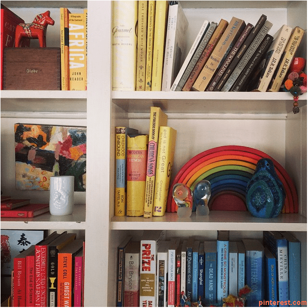 shelf with color code