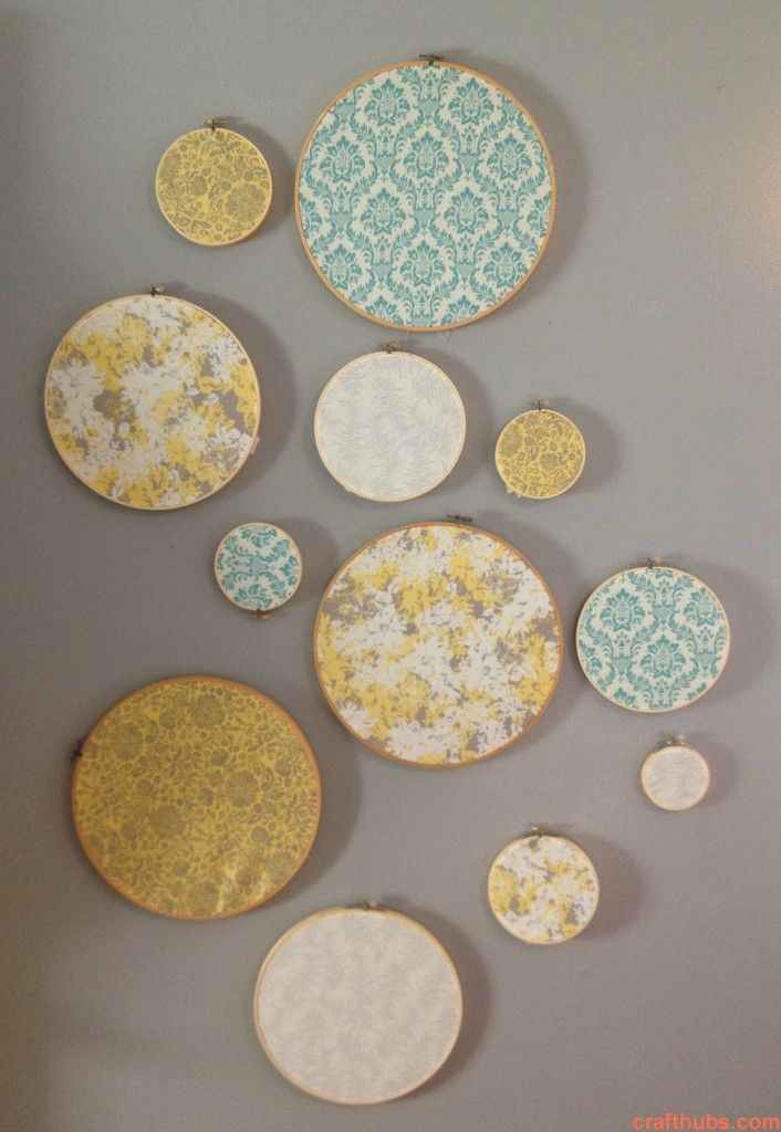 Embroidery craft circles