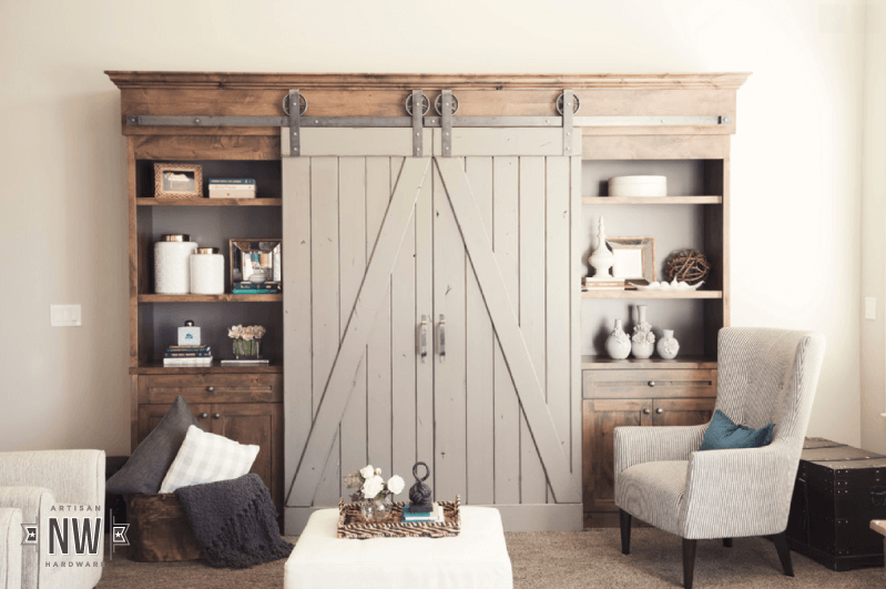 double Sliding Barn Door tv