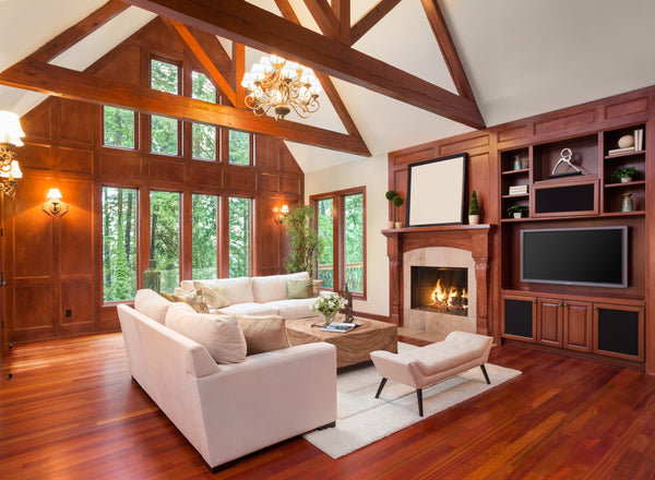 living room with woodwork
