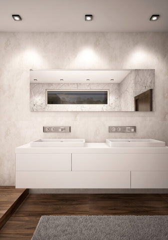 modern bathroom mirror and home interior