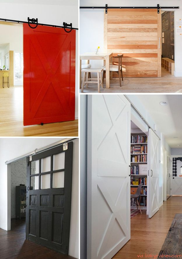 sliding barn doors save space