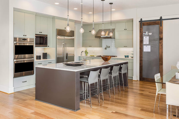 Warm grey kitchen color theme