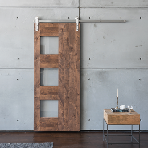 Midcentury 3-Panel Barn Door