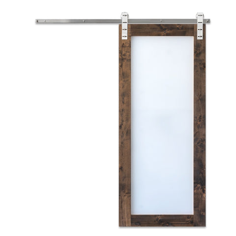 Modern Glass Barn Door