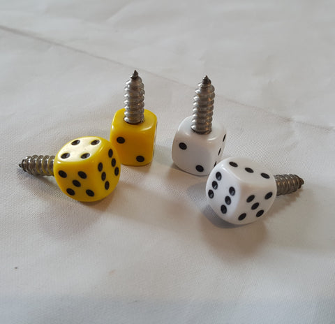 Number Plate Dice Screws