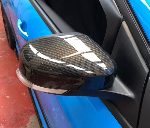 MK2/ MK3 Focus Mirror Caps Carbon/ Hydrodipped