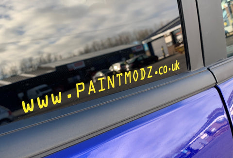URL Vinyl Sticker - www.paintmodz.co.uk
