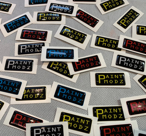 """Paintmodz"" Gel Badge"