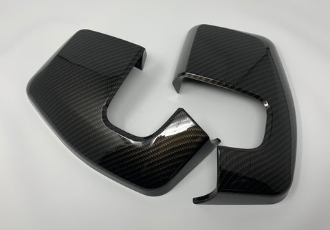 2012- Ford Transit Mirror Caps Carbon Fibre