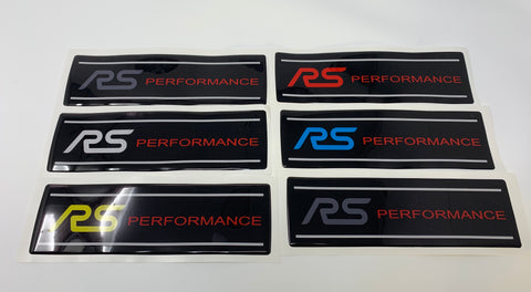 MK3.5 Focus RS Engine Cover Gel Badge